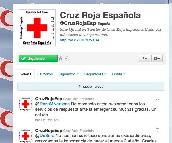 Twitter de Cruz Roja Española