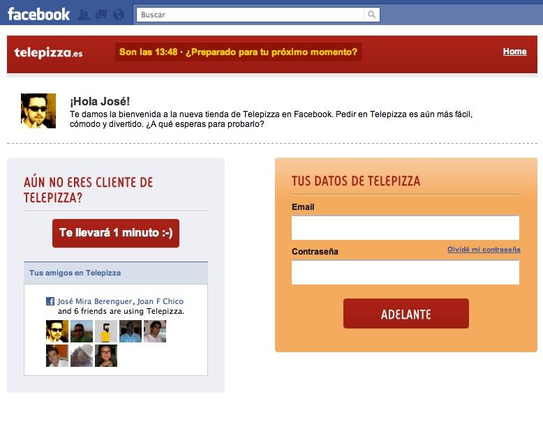 Tienda Telepizza Facebook