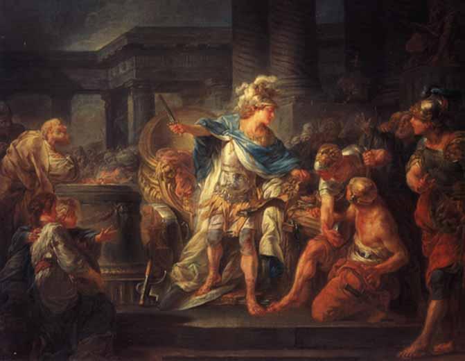 Alejandro Magno cortando el Nudo Gordiano
